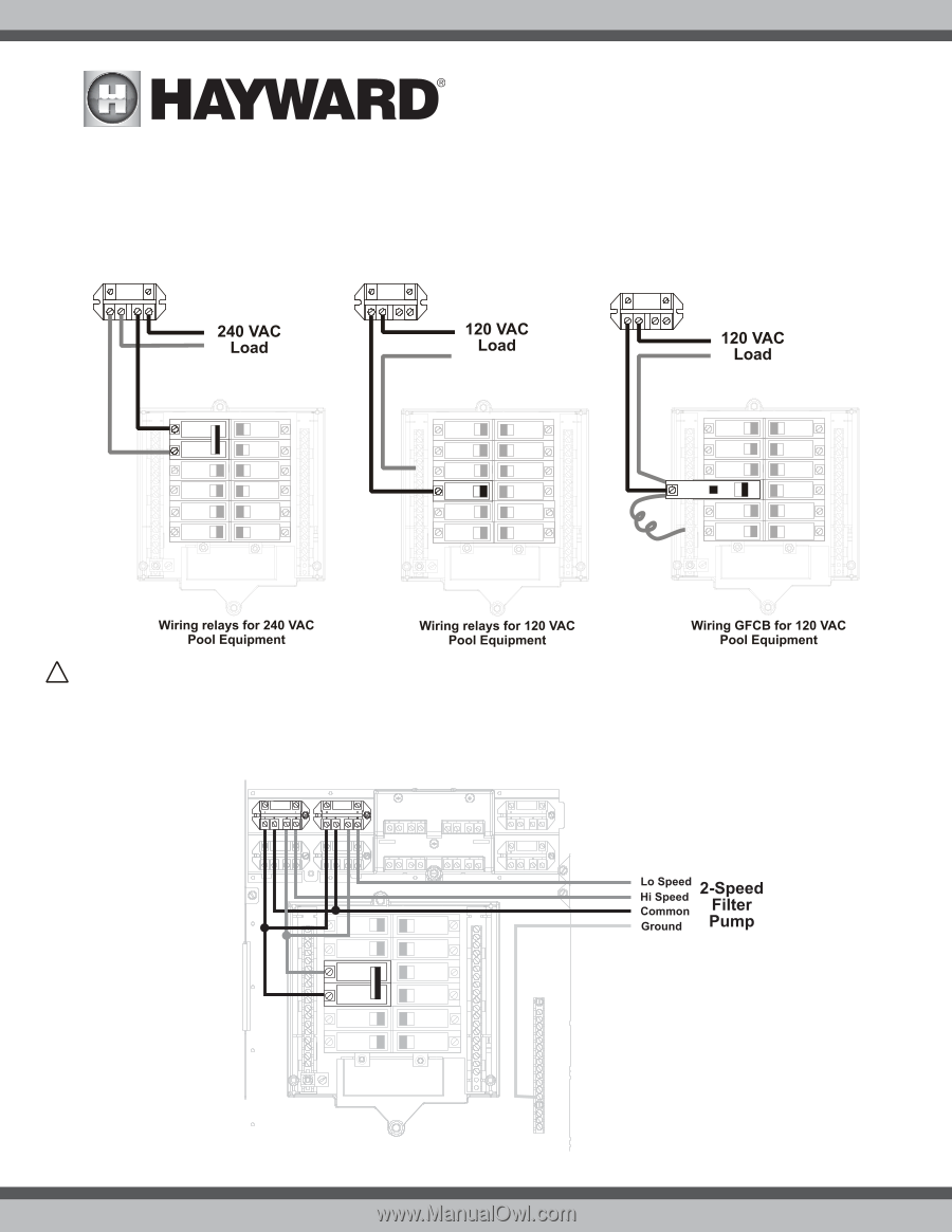 Hayward Omnilogic Installation Manual Page 21 Jandy Actuator Wiring Diagram Use Only Genuine Replacement Parts