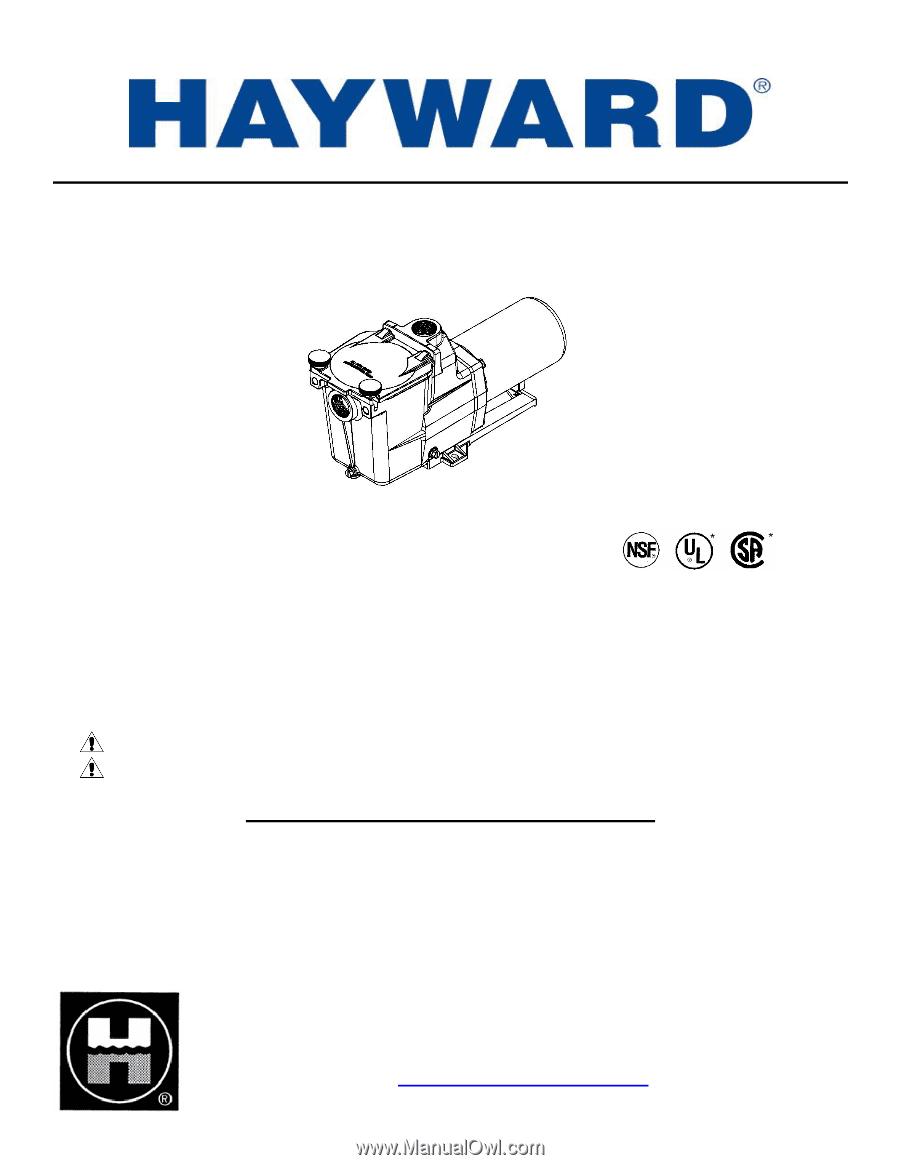 Hayward Super Pump Parts Manual Guide