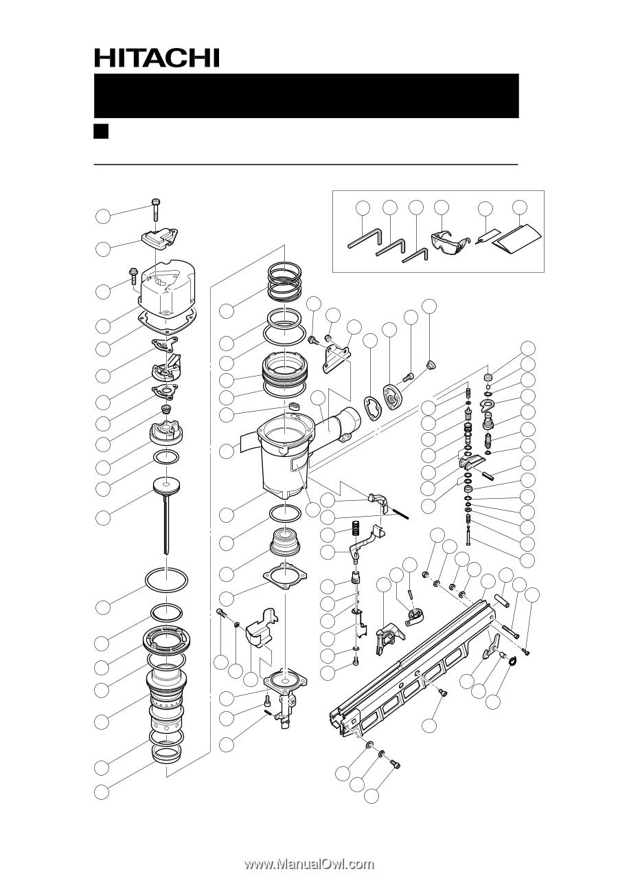 Hitachi NR83A2 | Parts List