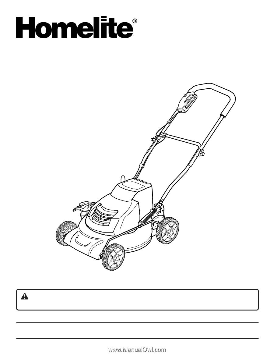 homelite ut13126 user manual