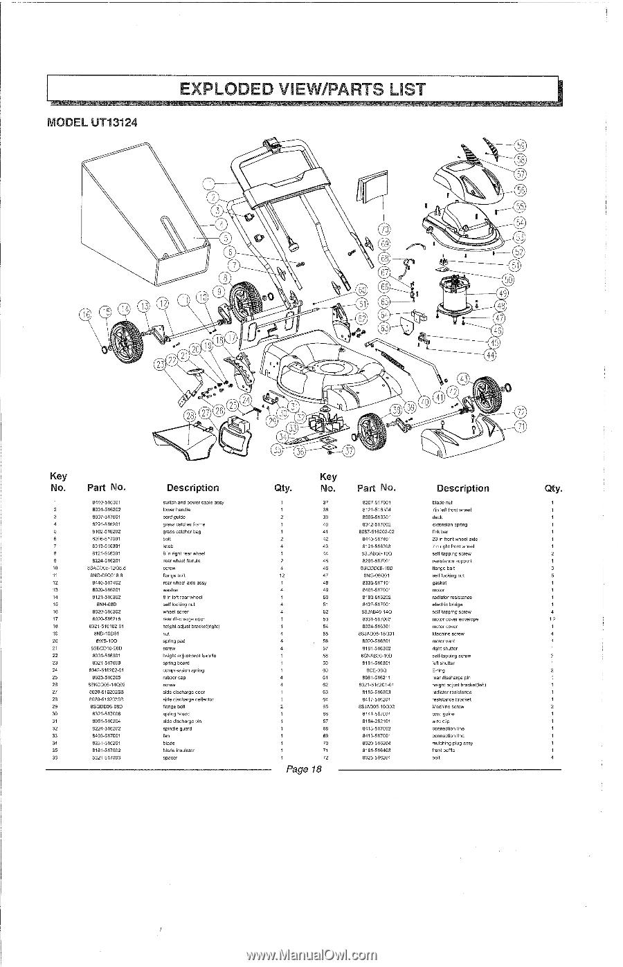 Homelite Ut13124 Parts List. 1 Home Manual. Wiring. Homelite Ut13124 Parts Diagram At Scoala.co