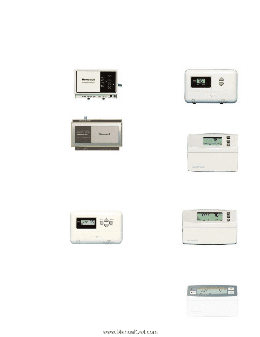 Select a Honeywell Heat Pump Thermostat