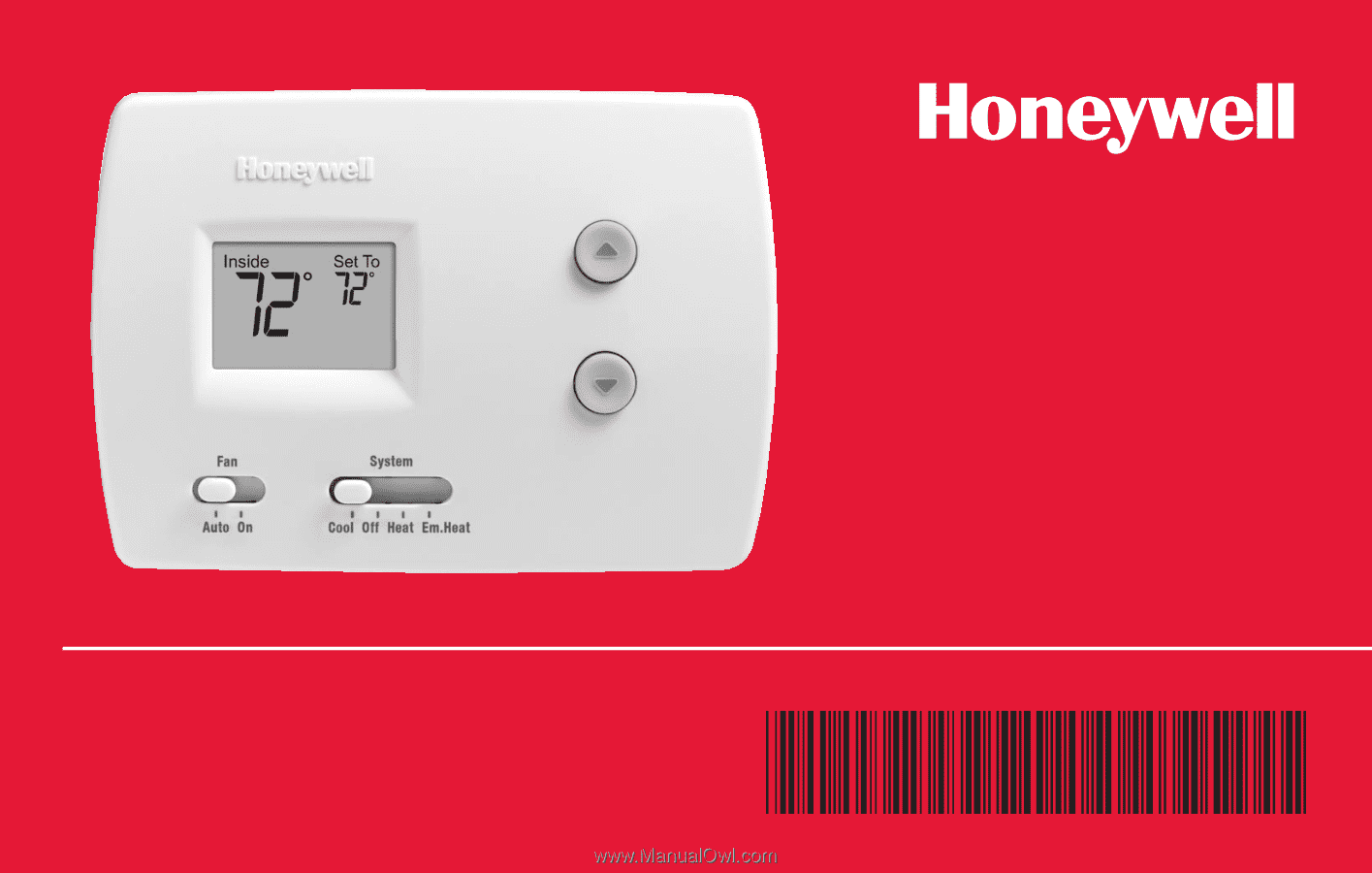 Honeywell TH3110D1008 | Owner's Manual