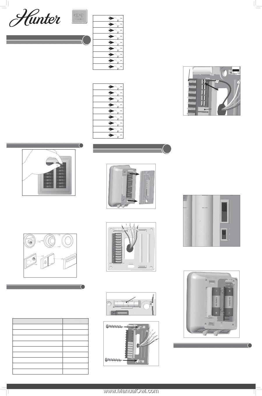 hunter 44132 installation guide rh manualowl com Hunter Programmable Thermostat Manual 44155C Hunter Programmable Thermostat Manual 44155C