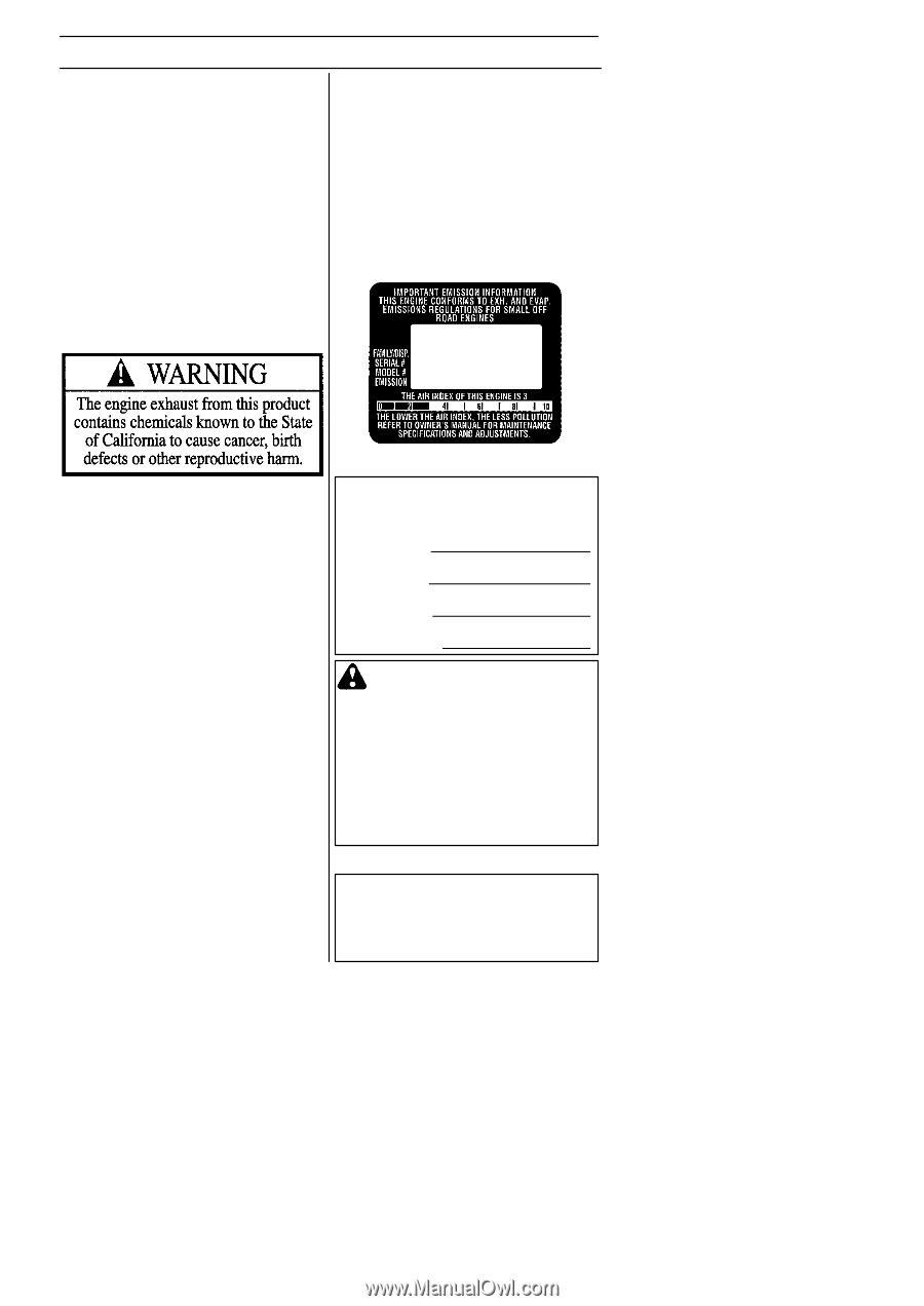 husqvarna 125b owners manual page 11 rh manualowl com husqvarna 125b service manual pdf husqvarna 125b user manual
