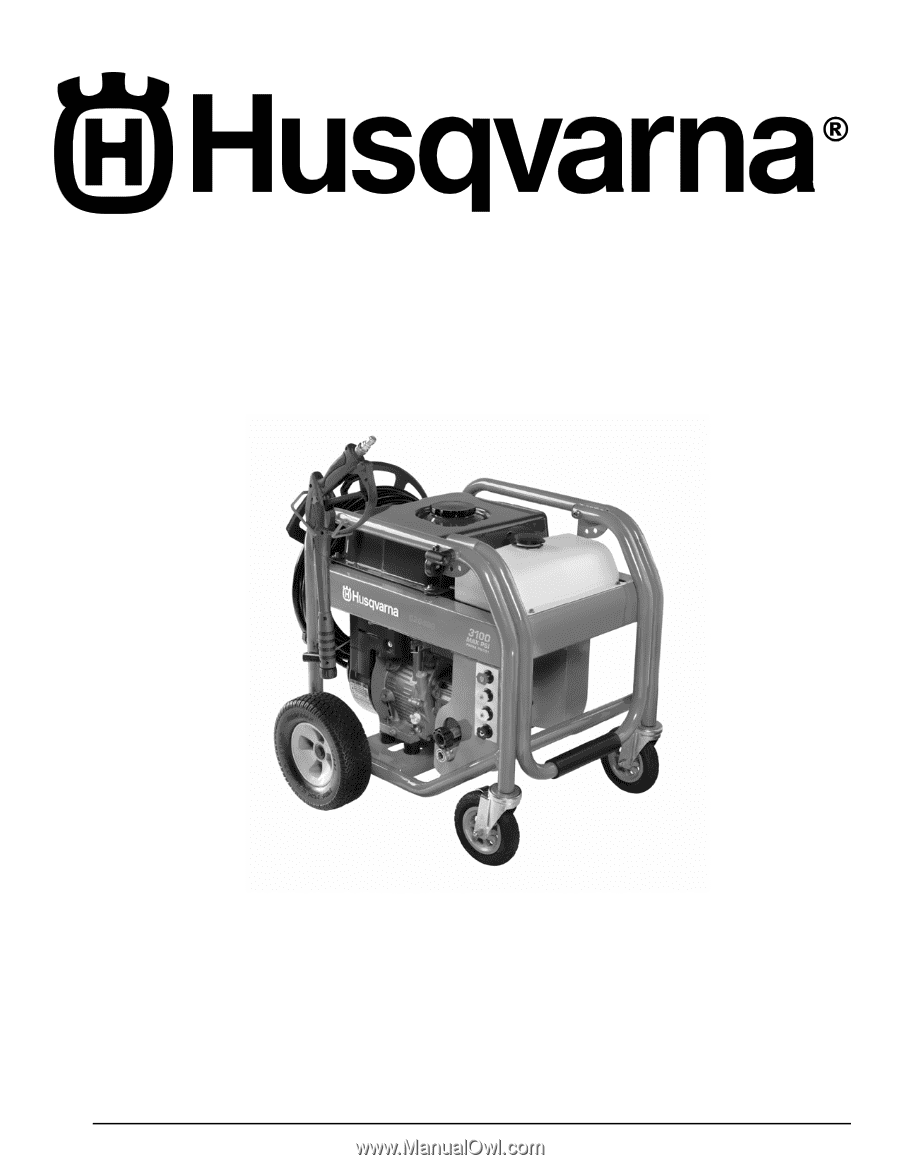 Husqvarna PW3100 Manual