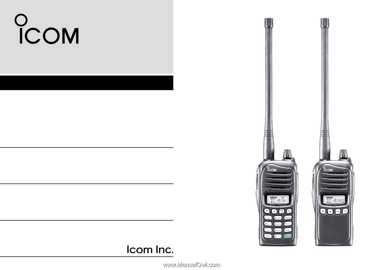 Icom IC-A14   Instruction Manual