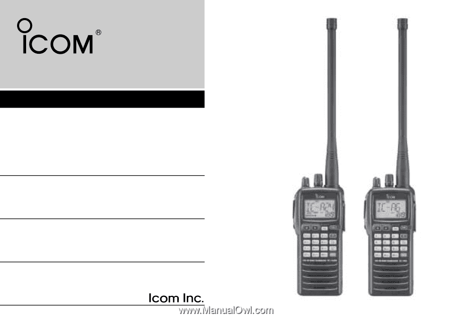 Icom Ic a6 Manual Pdf