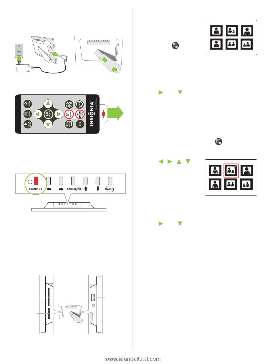Insignia NS-DPF8WA-09   Quick Setup Guide (English) - Page 2