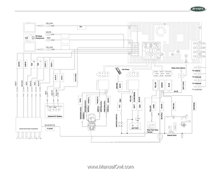 Jensen VM9020TS   Operation Manual - Page 9 on equalizer circuit diagram, car audio diagram, equalizer and amp diagram, equalizer amp wiring, equalizer schematic,