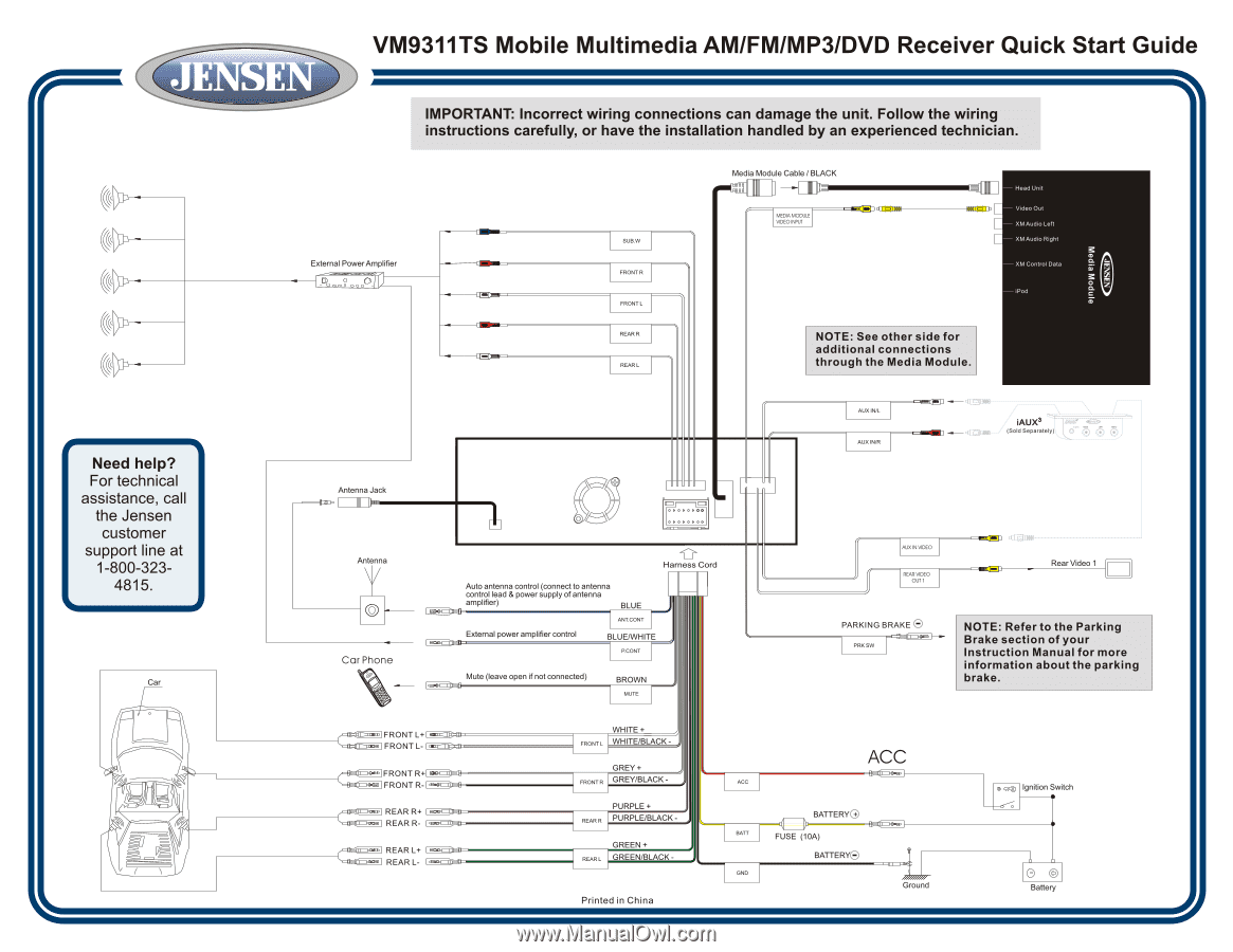 Pinout Wire Harness Vm9311ts | Wiring Diagram on jensen radio harness, jensen power harness, touch screen receiver bv9965 wire harness, jensen remote control, jensen wiring adapter, jensen speaker,