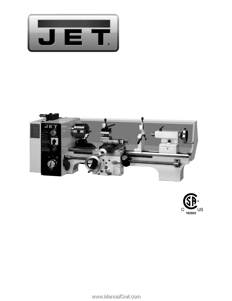 Jet Tools Bd 920w User Manual Lathe Wiring Diagram Operating Instructions And Parts
