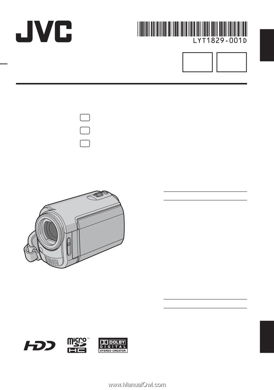 jvc hard disk camcorder manual