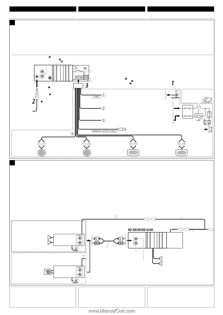 JVC KD-G340   Installation Manual on