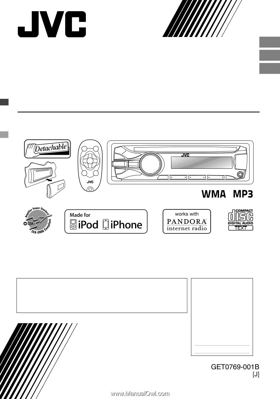 JVC KD-R530 | Instructions