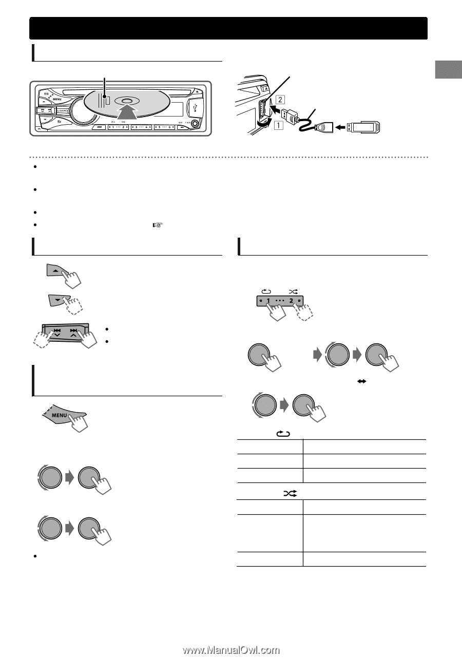 JVC KD-R530   Instructions on