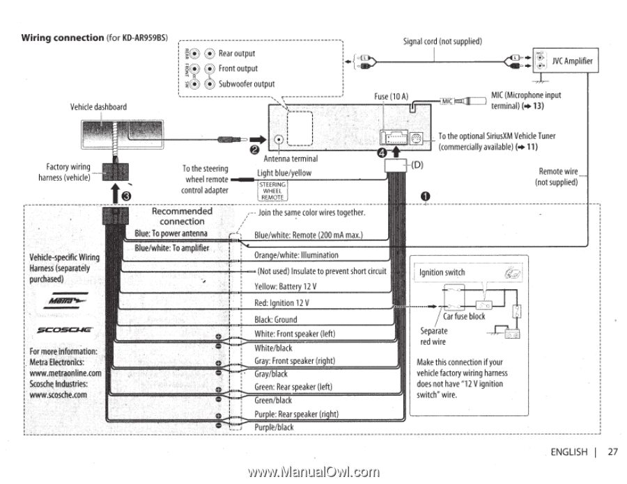 Wiring Jvc Kdr950bt - Circuit Diagram Symbols •