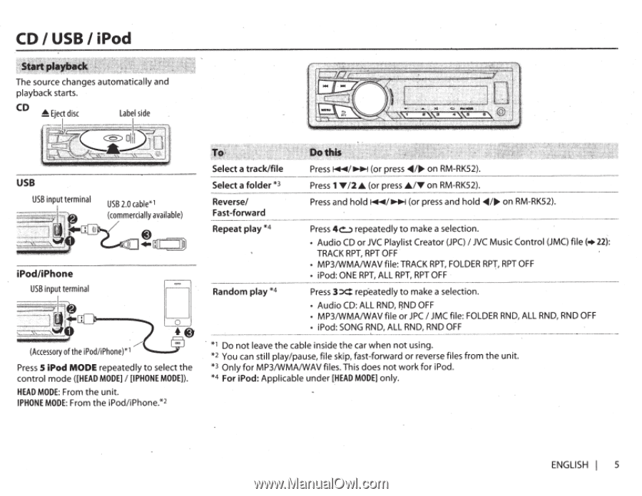 JVC KD-R950BT | Instruction Manual