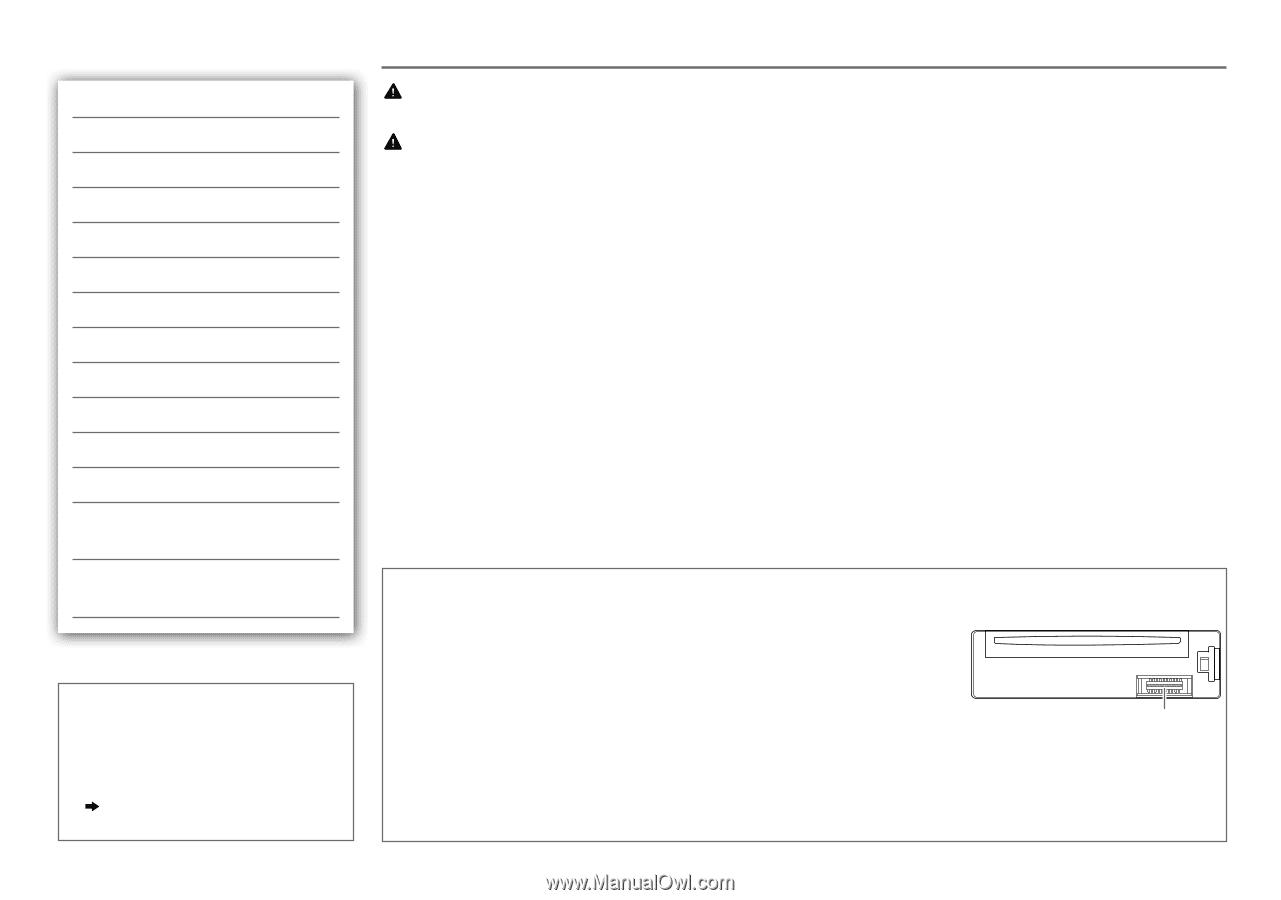 JVC KD-SR60 | Instruction Manual - Page 11 on