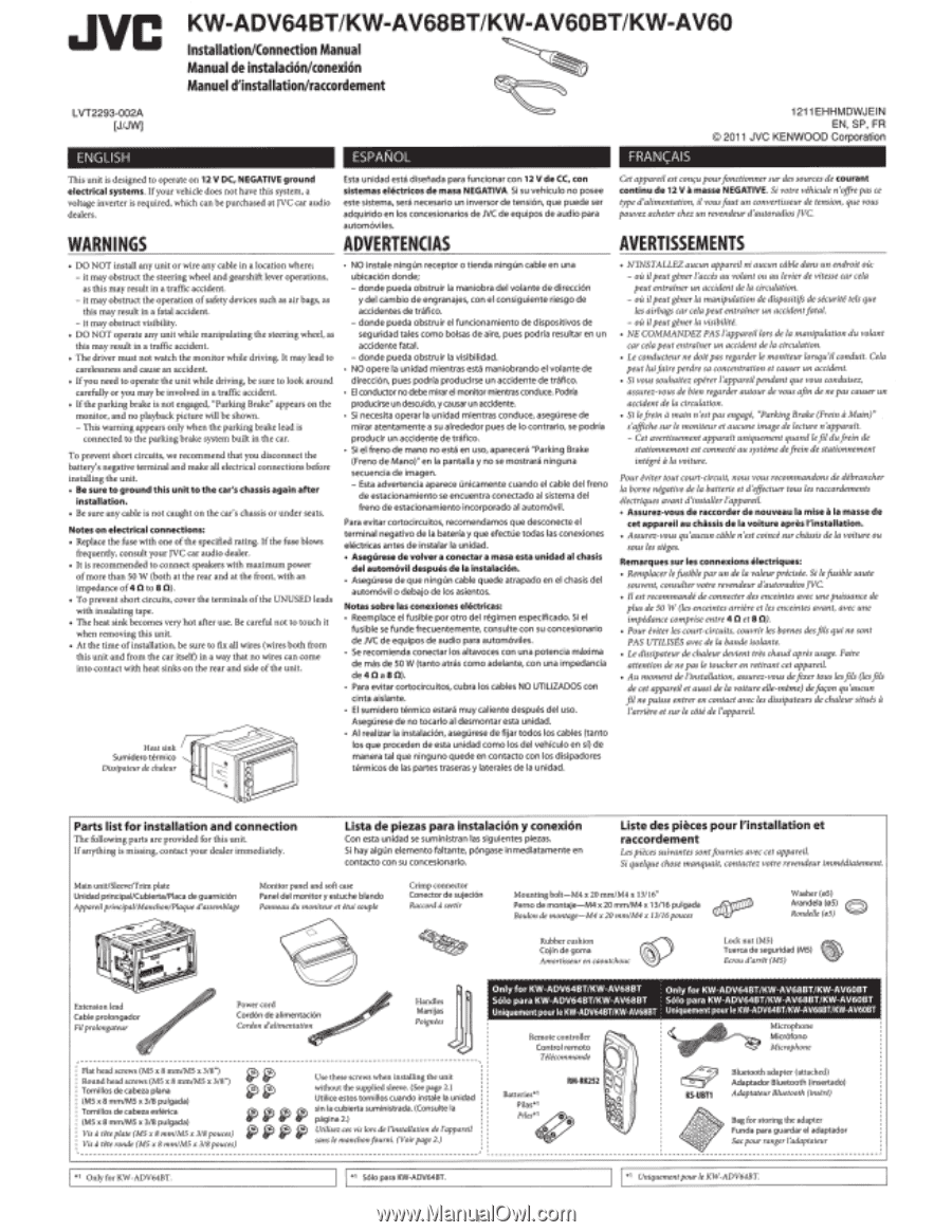 Jvc Kw Av60 Instruction Manual Page 85 Av60bt Wiring Diagram