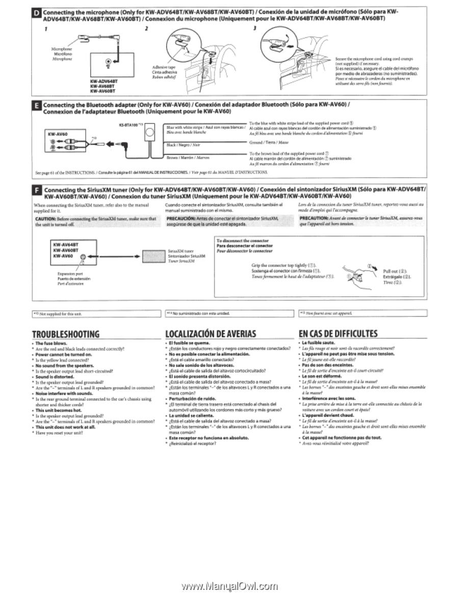 Jvc Kw Av60 Instruction Manual Page 85 Av60bt Wiring Diagram T