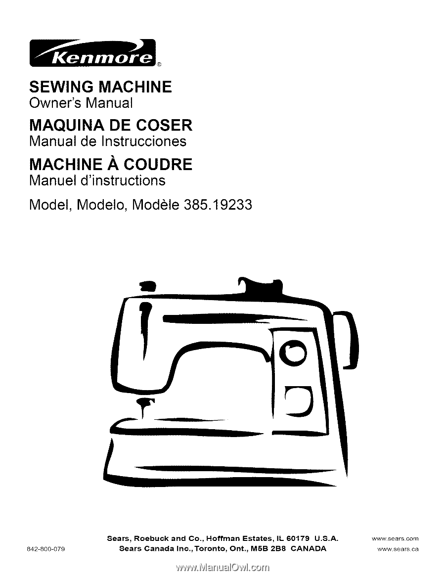 SEWING. MACHINE. Owner's. Manual