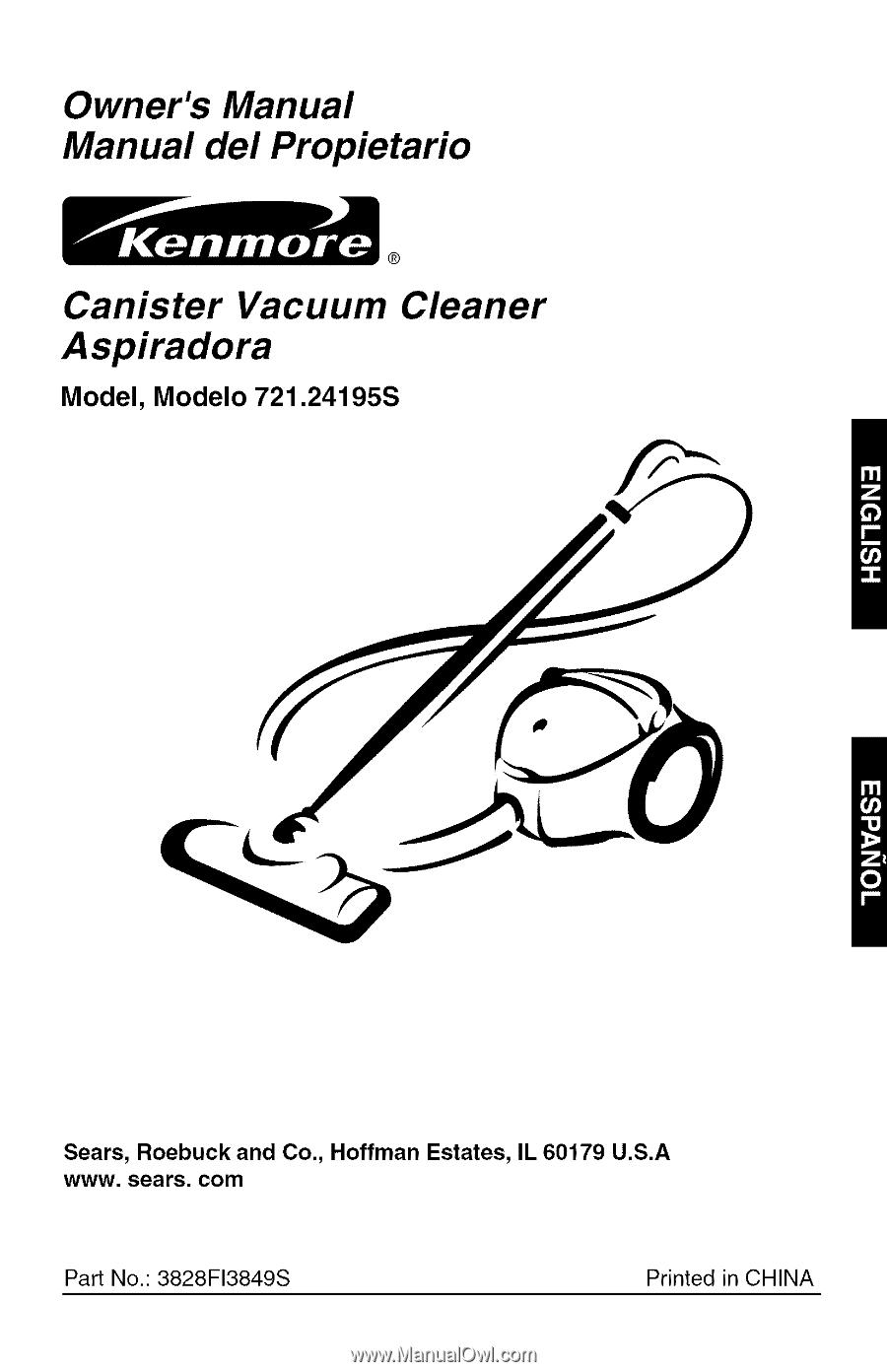 kenmore canister vacuum repair manual