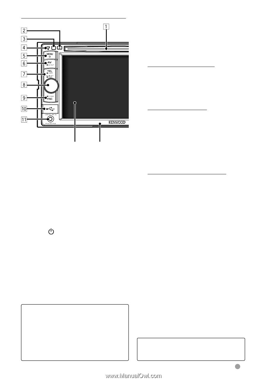 Kenwood DDX319 | Instruction Manual