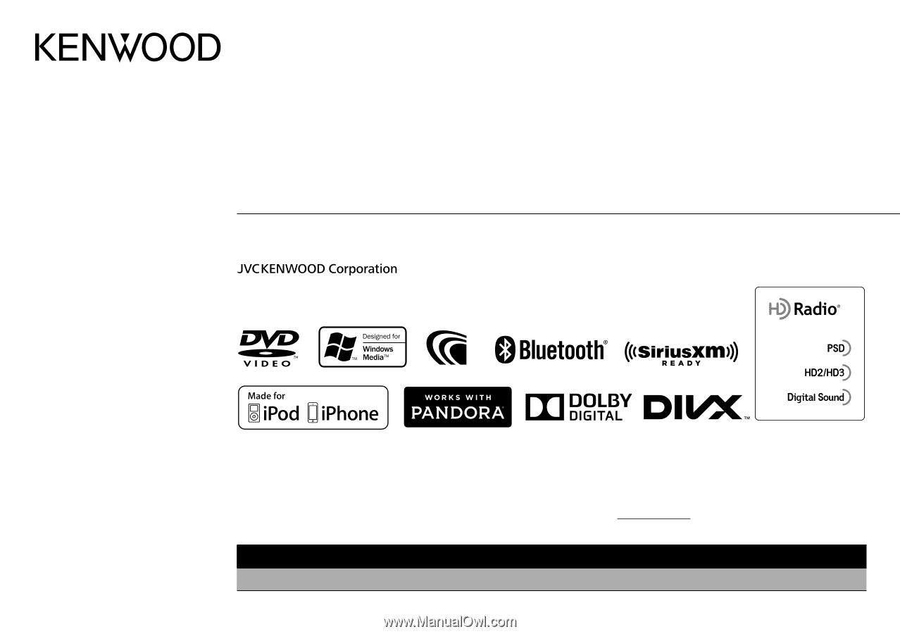 Kenwood DDX672BH | User Manual on