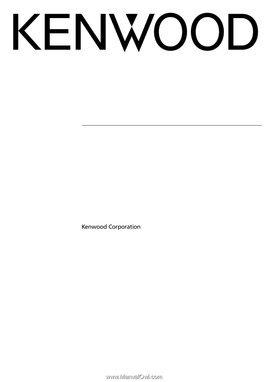 Kenwood DNX8120   Installation Manual on