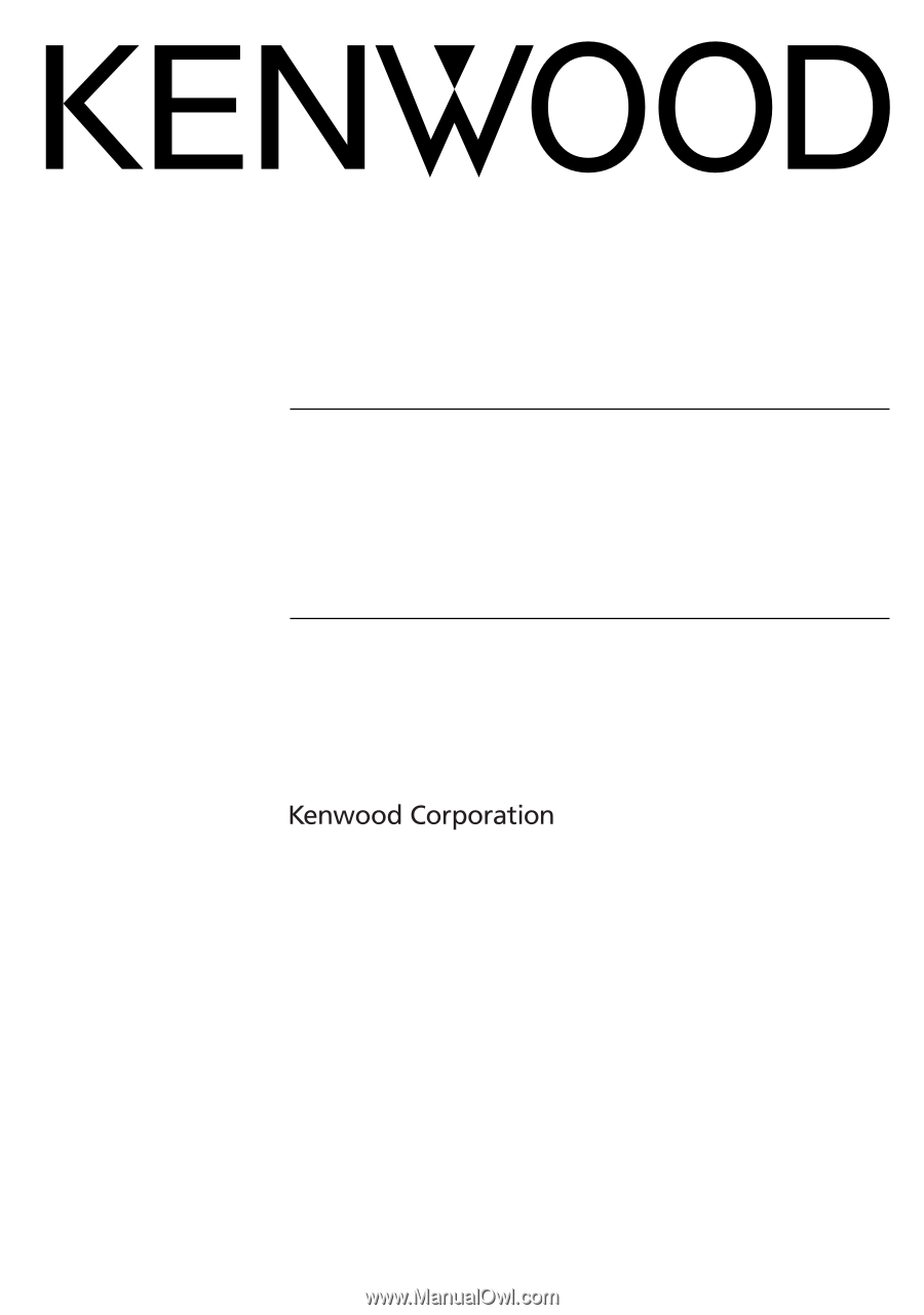 Kenwood DNX9960 | Installation Manual - Page 1 on