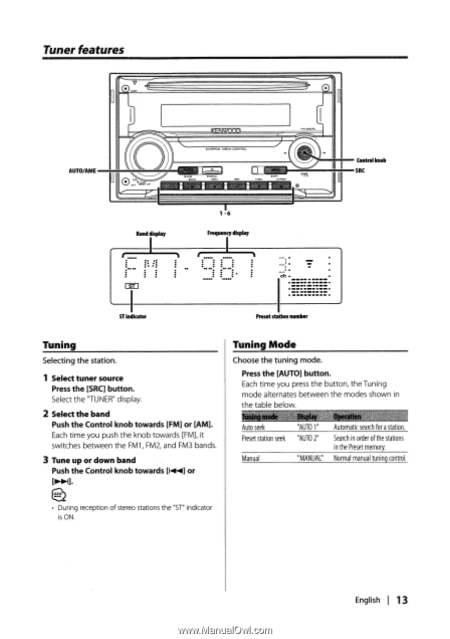 Kenwood DPX301   Instruction Manual - Page 15 on