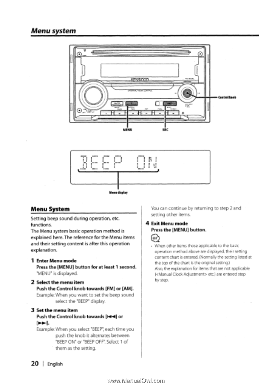 Kenwood DPX301 | Instruction Manual - Page 25 on