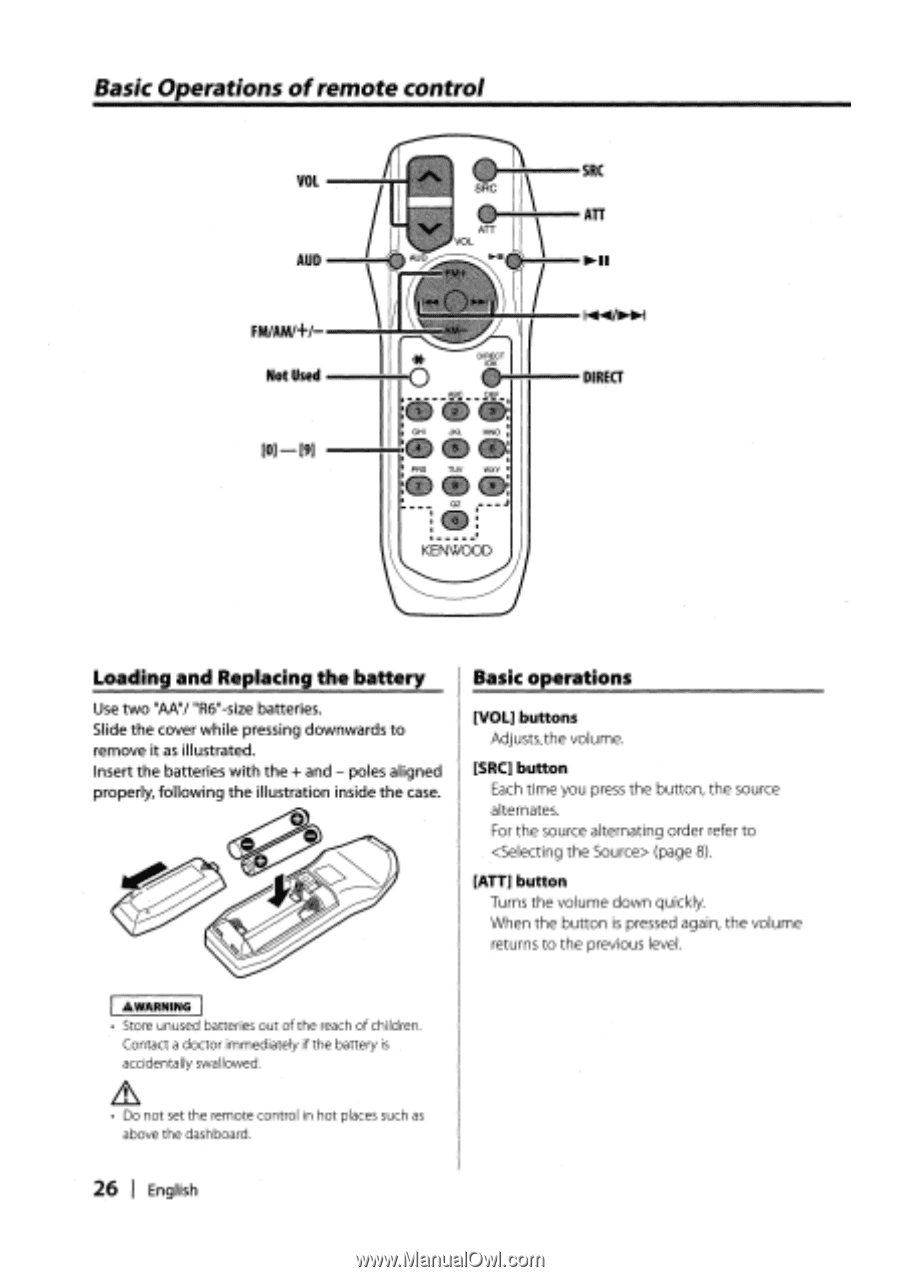 Kenwood DPX301   Instruction Manual - Page 26 on