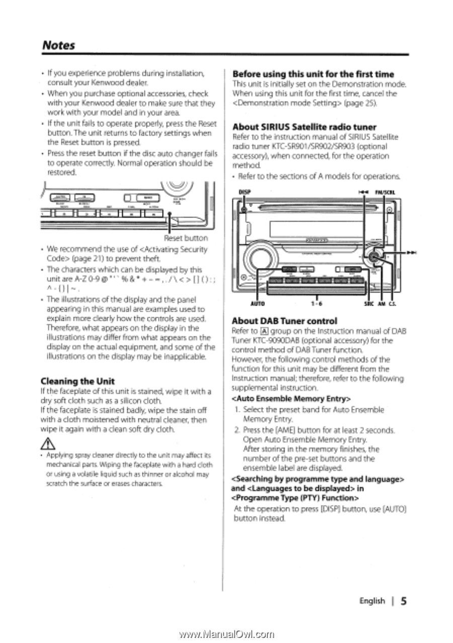 Kenwood DPX301 | Instruction Manual - Page 10