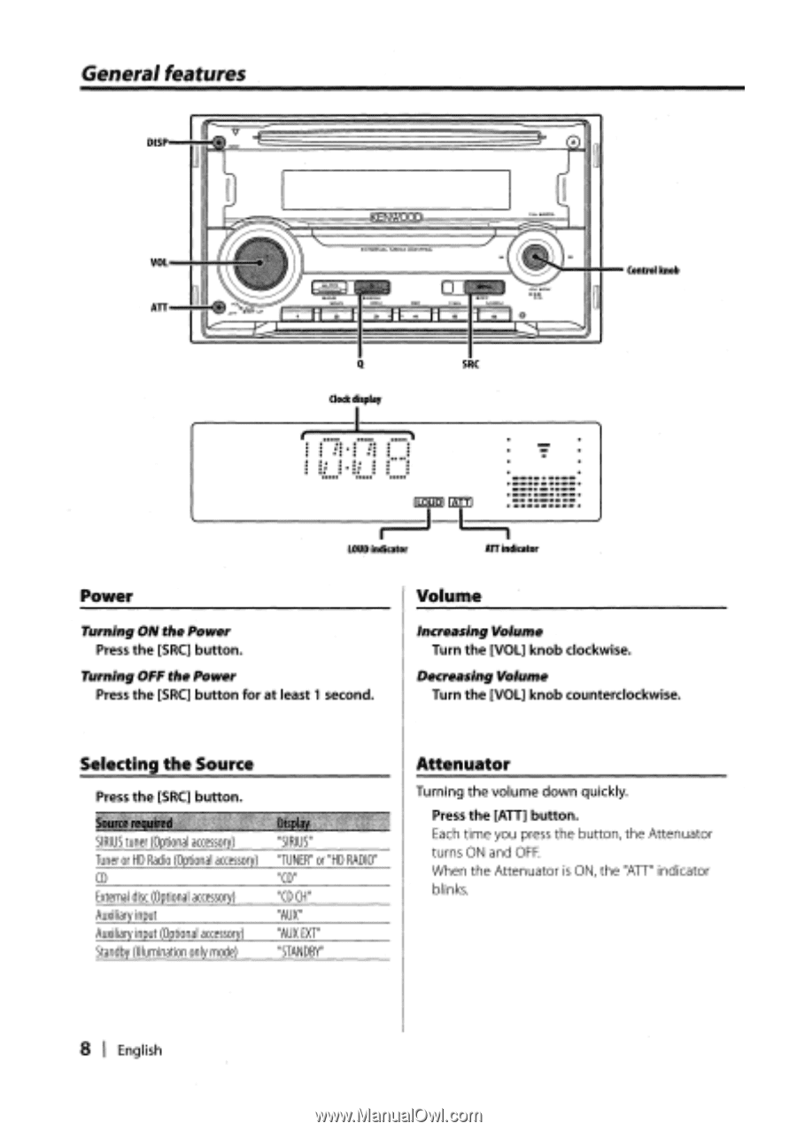 Kenwood DPX301   Instruction Manual - Page 10 on