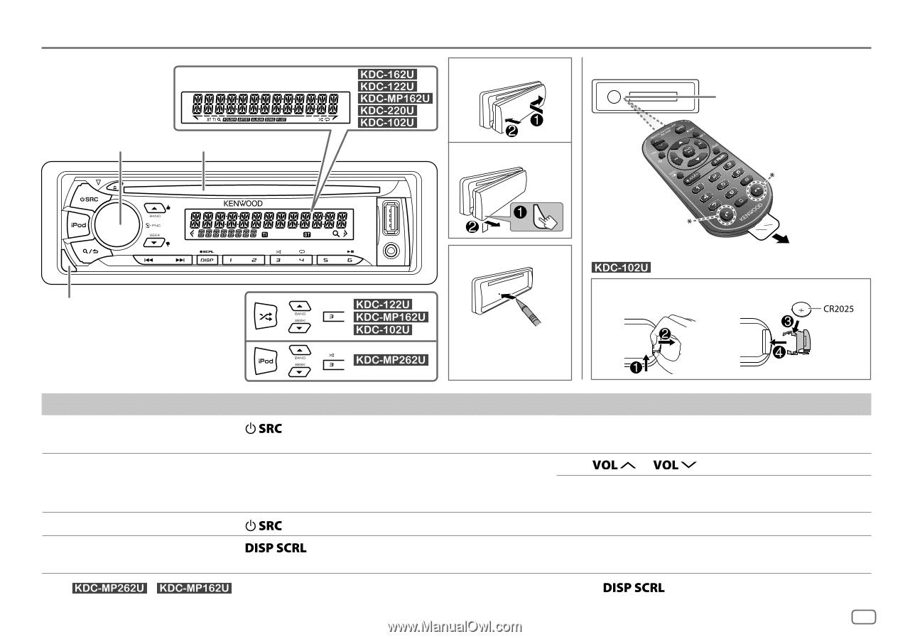 Kenwood Kdc 122u User Manual
