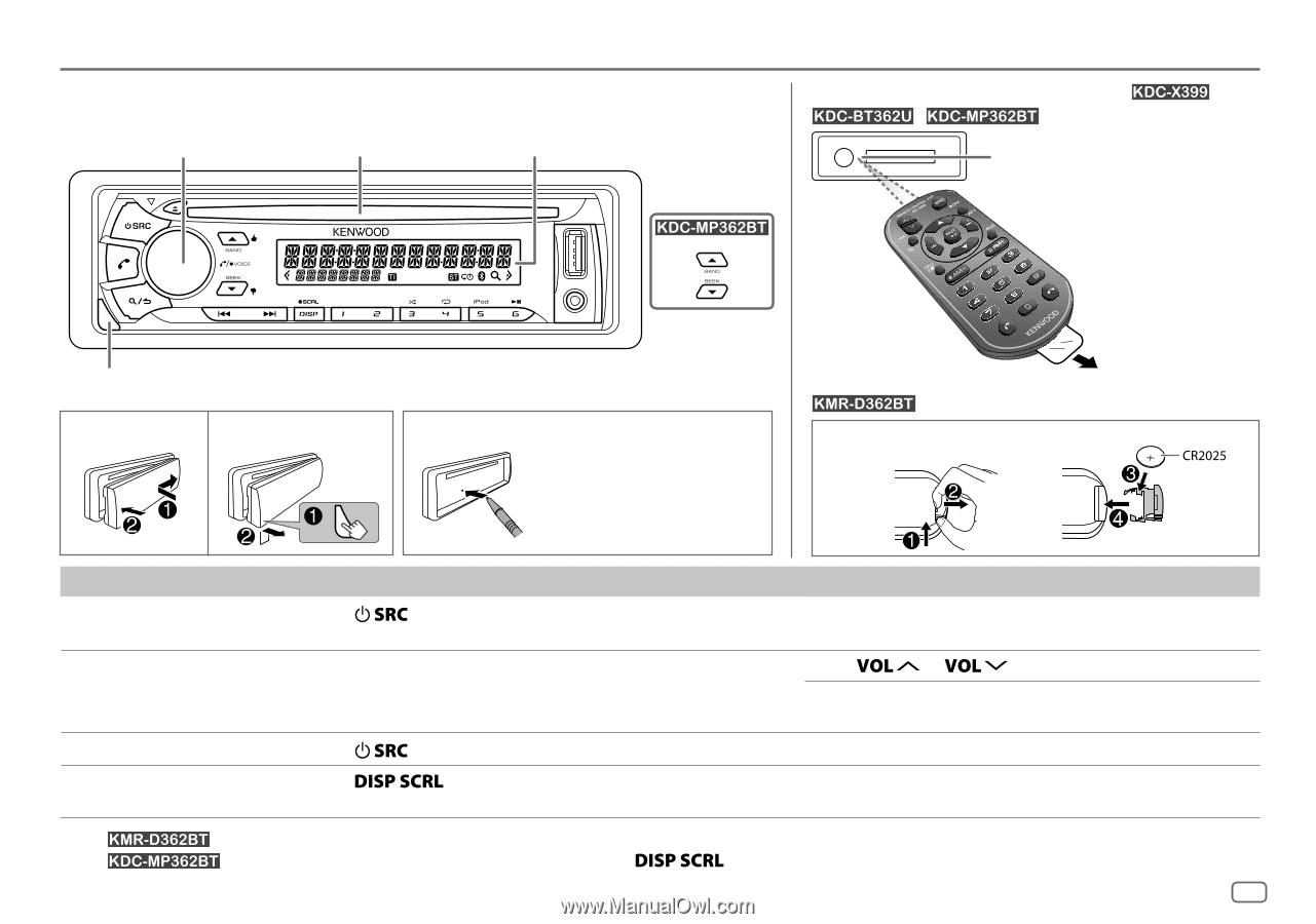 Kenwood KDC-BT362U | User Manual on