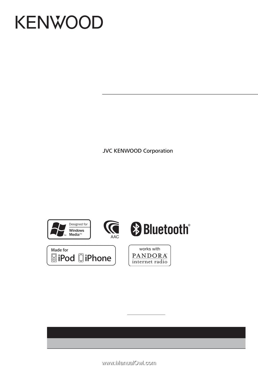 Kenwood KDC-BT652U | Instruction Manual