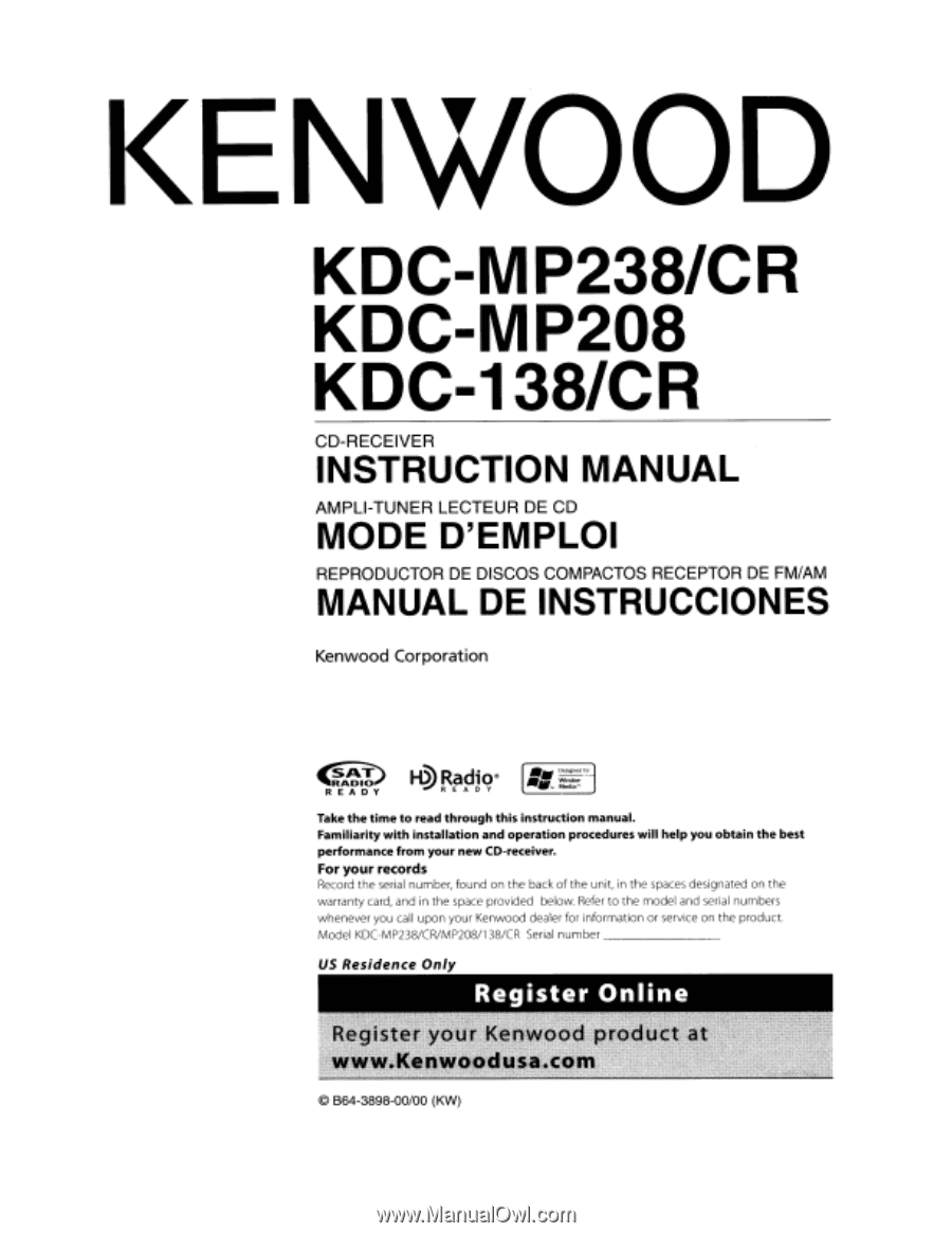 Kenwood Kdc 252u Manual Free Wiring Diagram For You Mp208 32 Autoestereo Protect Estereo