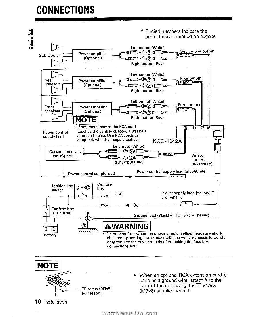 Kenwood Kgc 4042a Instruction Manual Car Fuse Box Noise 14