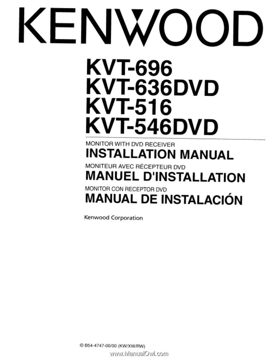 Kenwood Kvt 696 Instruction Manual Page 101 516 Wiring Diagram