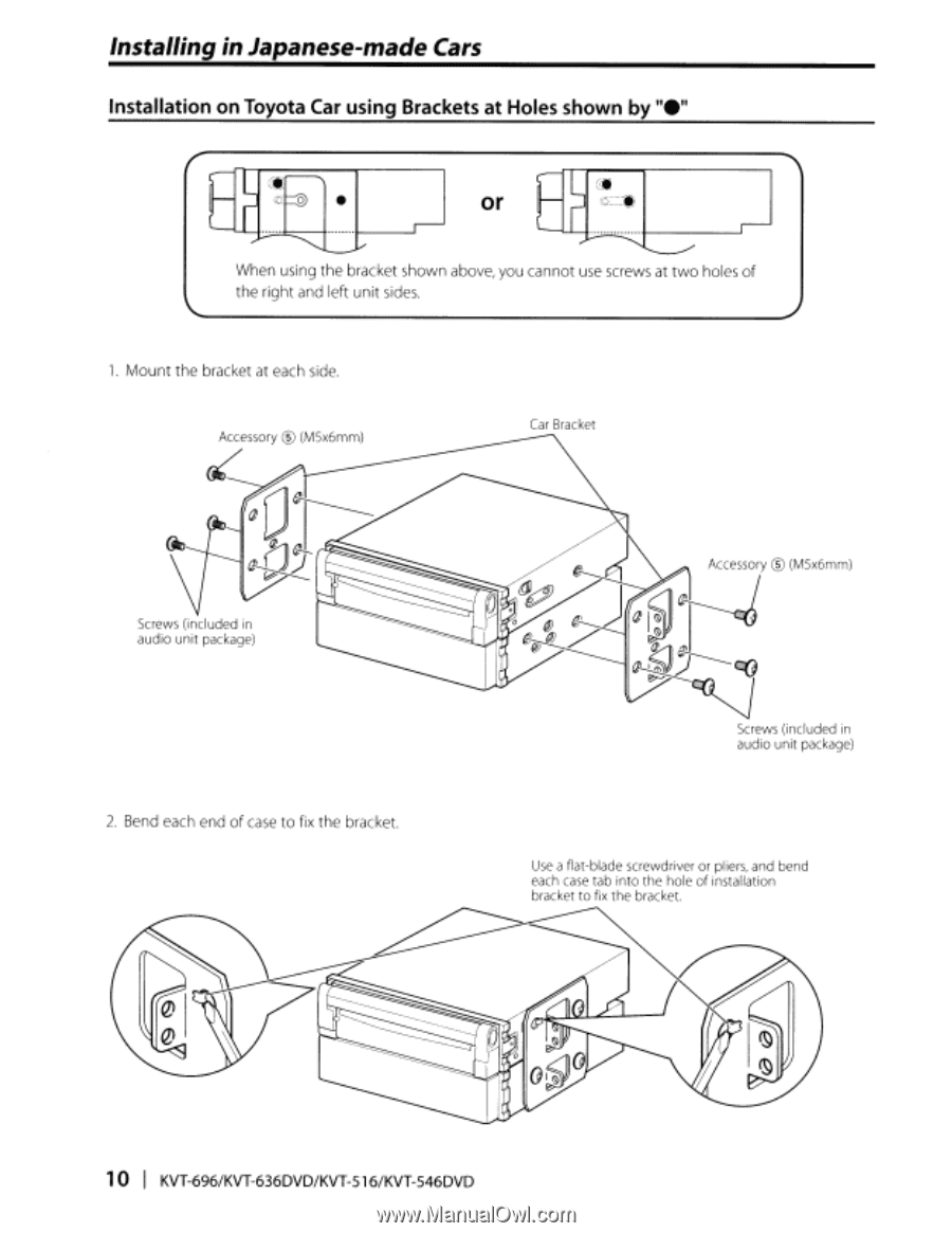 Kenwood Kvt 696 Instruction Manual Page 105 516 Wiring Diagram Installing In Japanese Made Cars