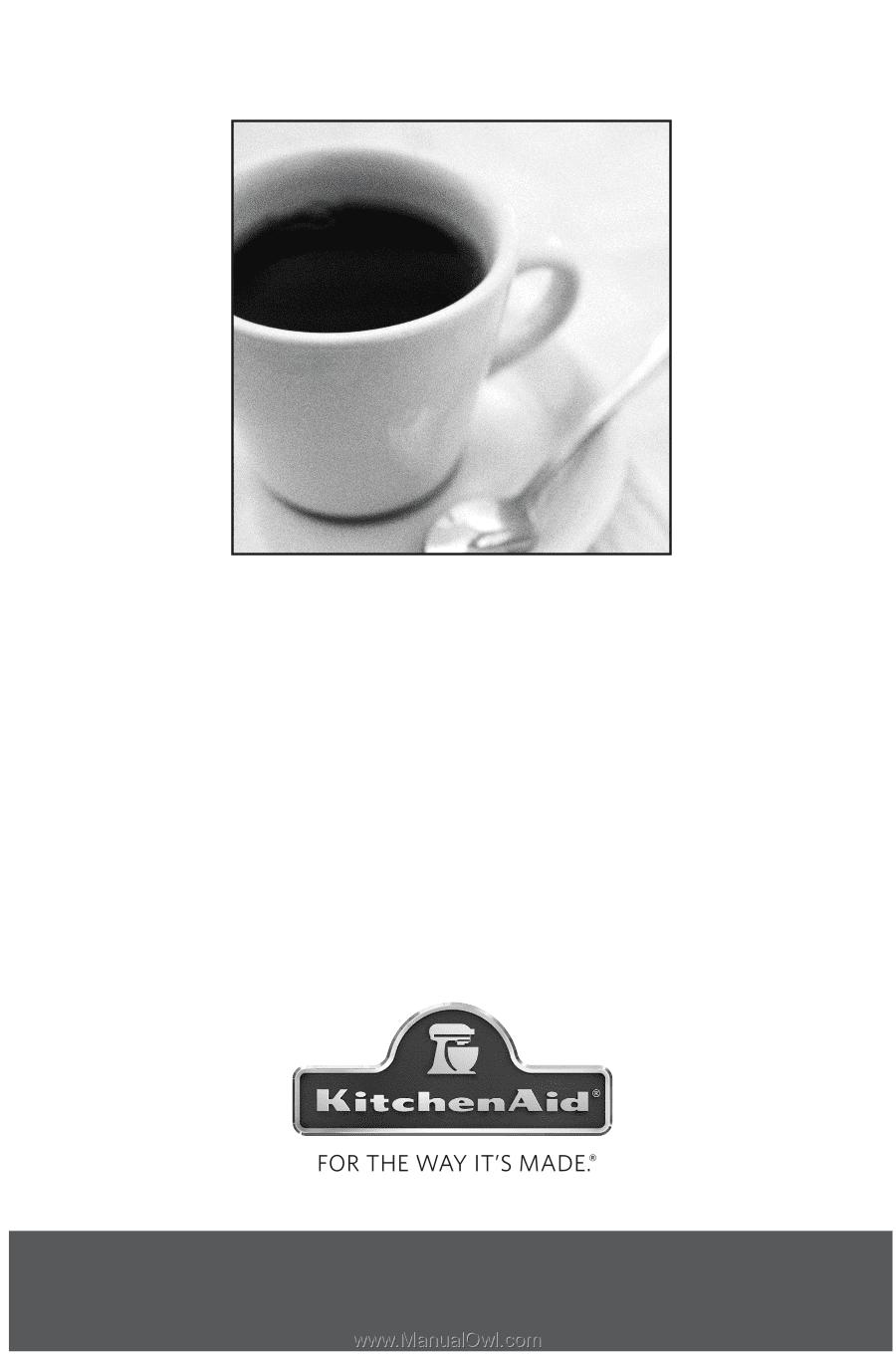 kitchenaid coffee maker manual kcm1402