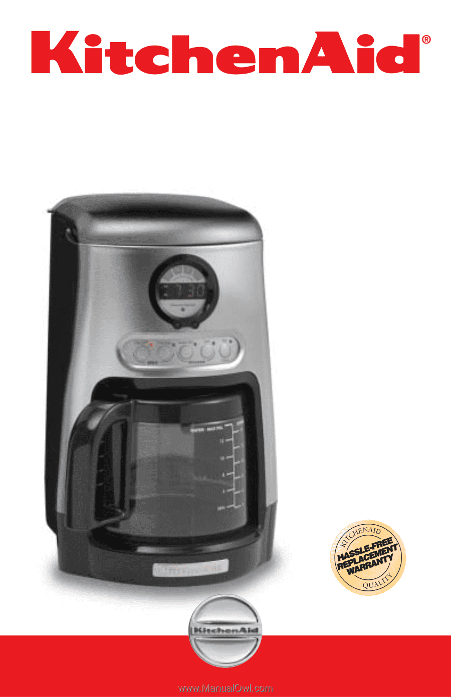 Coffee Maker With Copper Heating Element : KitchenAid KCM515 Instruction Manual
