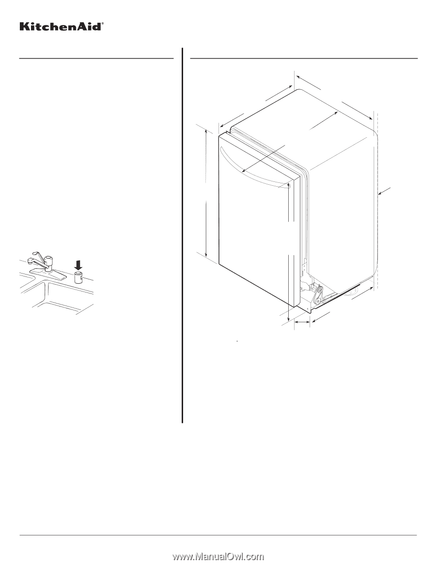 Whirlpool dishwasher installation Manual pdf on