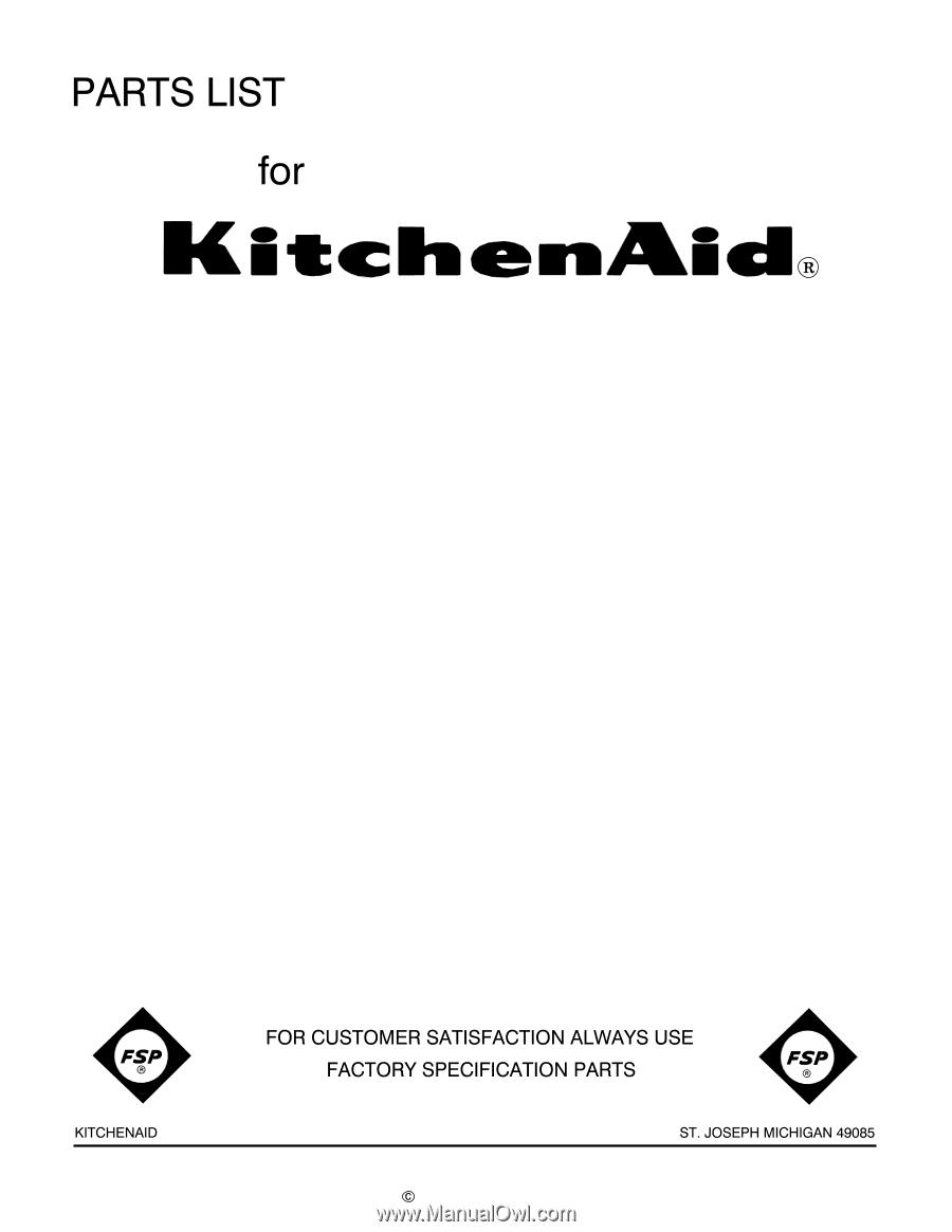 Kitchenaid Kp26m1xpm Parts List