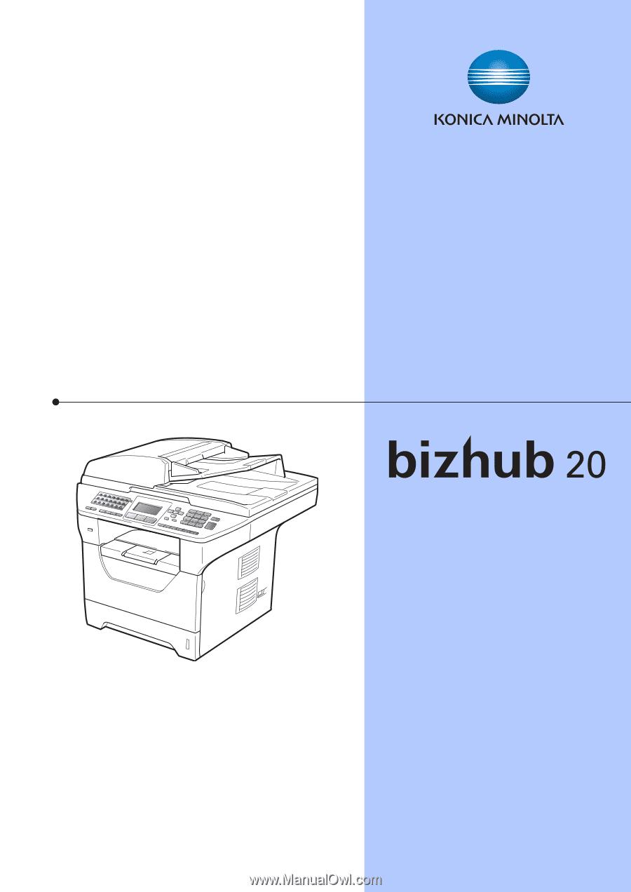 konica minolta bizhub 20 bizhub 20 user guide rh manualowl com Bizhub 20 Specs konica minolta bizhub 20p user manual