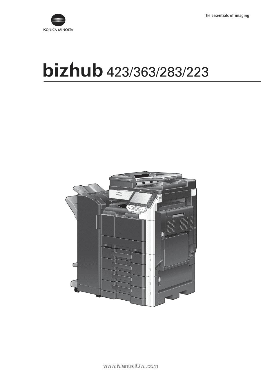 Konica Minolta bizhub 363 bizhub 423/363/283/223 Network Administrator User  Guide