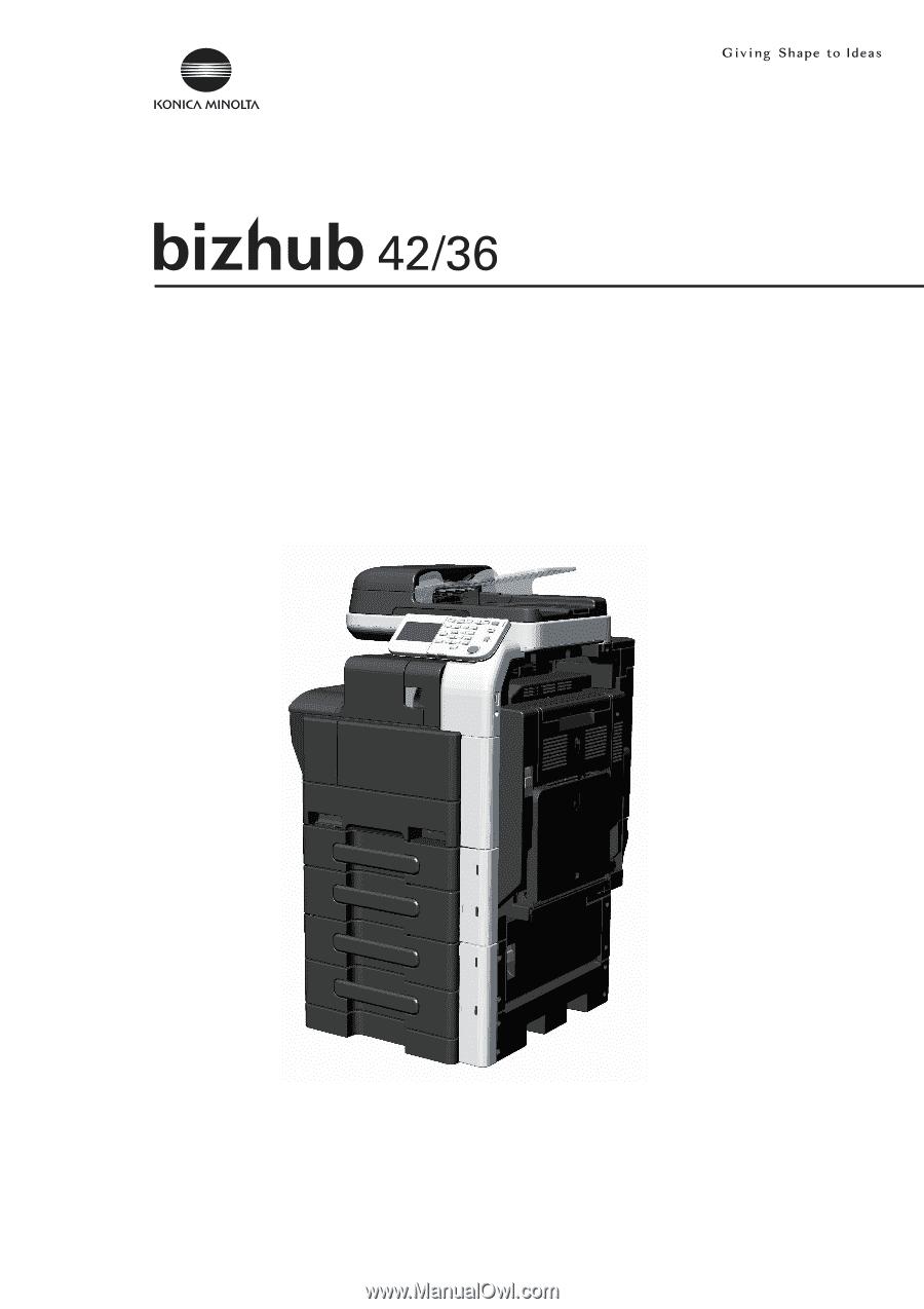 konica minolta bizhub 36 bizhub 36 42 administrator operations rh manualowl com Bizhub 200 Toner bizhub 200 user manual